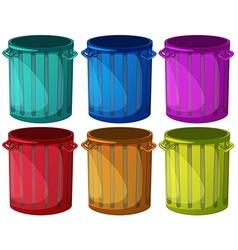 Colorful trashbins vector image vector image