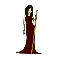comic cartoon sorceress vector image vector image