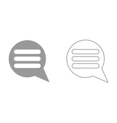 comments it is black icon vector image vector image