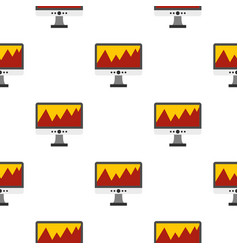 computer pattern flat vector image