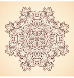 Decorative hand drawn mandala vector image
