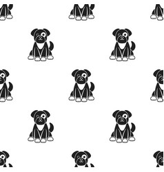 Dog icon in black style isolated on white vector
