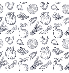 Fruits and vegetablespattern vector image