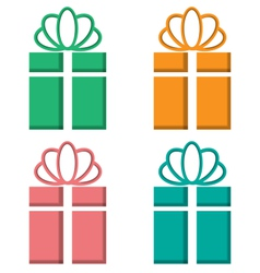 Gift boxes cutout on different backgrounds on vector