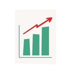 Growing chart graph vector