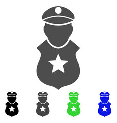 guard man flat icon vector image