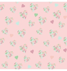 Hearts pink pattern vector image vector image