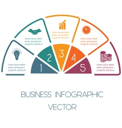 Line infographic five positions vector image vector image