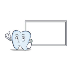 Okay board tooth character cartoon style vector