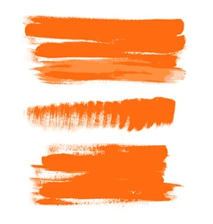 Orange gouache brush strokes the perfect backdrop vector