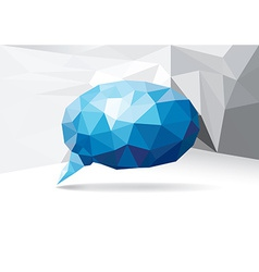 Polygonal speech bubble vector image