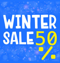 Poster design for winter sale vector