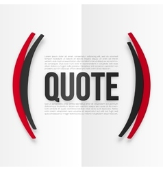 Red and black parentheses with place for your text vector