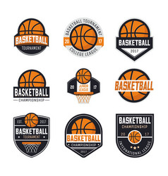 Set of basketball logos vector