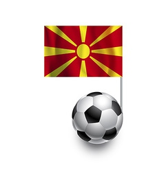 Soccer balls or footballs with flag of macedonia vector