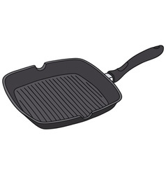 Square fry pan vector