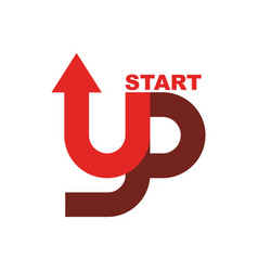Start up logo startup emblem running business vector