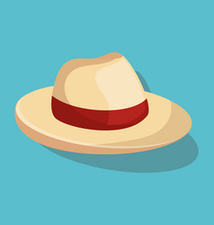 summer hat fashion isolated icon vector image vector image