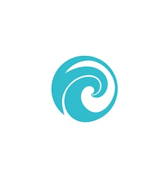 water wave icon abstract logo vector image