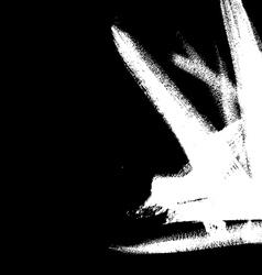 White brushstroke element on black background vector