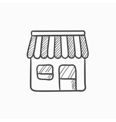 Shop sketch icon vector