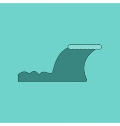 Flat icon on background disaster tsunami vector