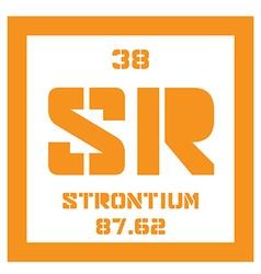 Strontium chemical element vector