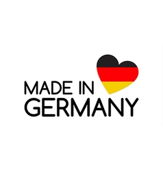 Made in germany symbol with the heart vector