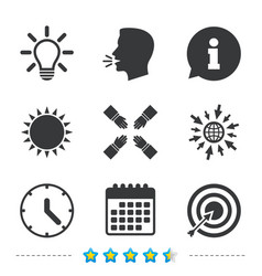 lamp idea and clock time target aim vector image