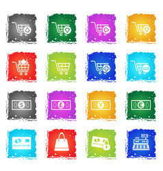Marketing and e-commerce icon set vector