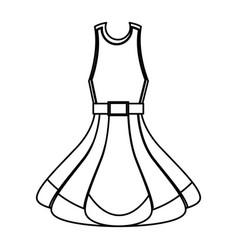 fashion woman dress vector image
