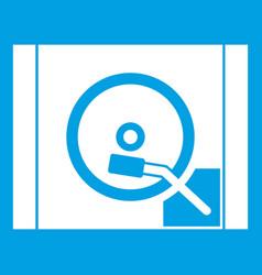 Turntable icon white vector
