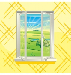 Summer window vector