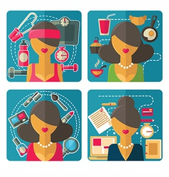 Woman avatars vector
