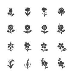 Flower Icons for Pattern vector image