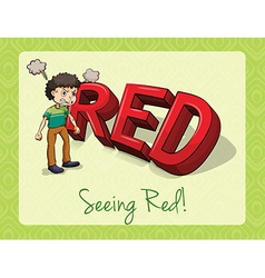 Seeing red vector