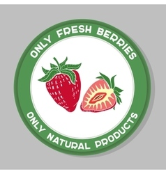 Strawberrylabel vector