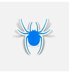 Realistic design element spider vector