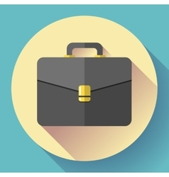 Dark briefcase icon flat designed style vector
