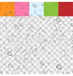 Water transparent drops seamless pattern vector