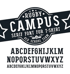 Slab serif font in sport style vector