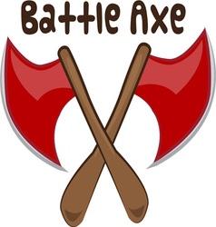 Battle axe vector