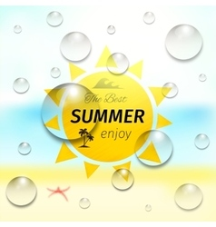 summer ocean tropical vector image