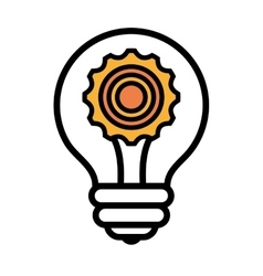 Bulb or great idea isolated icon design vector