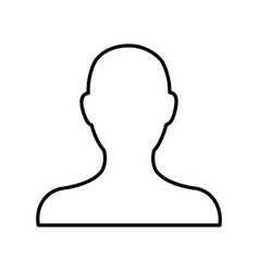 Avatar people web character image line vector