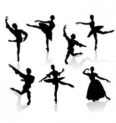 ballet 3 vector image vector image