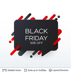 Black friday discount badge vector