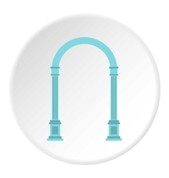 Blue arch icon flat style vector
