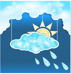 blue clouds mobile vector image vector image