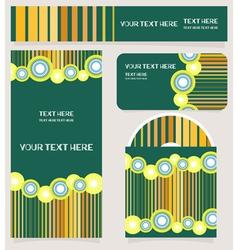 Branding design striped set vector